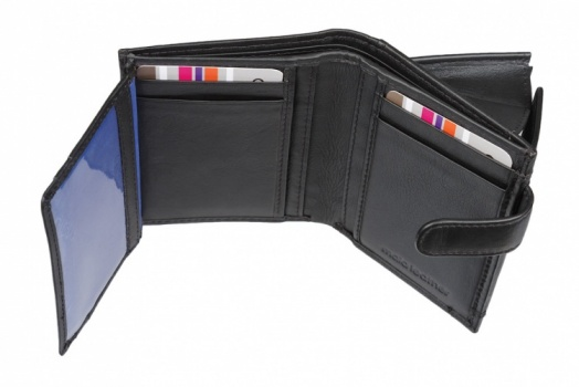 Black Mala Leather Origin Small Tab Mens Wallet